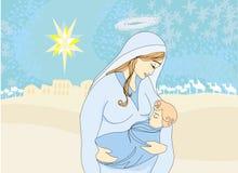 Madonna and child Jesus. Illustration Stock Images