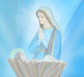 Madonna and child Jesus Royalty Free Stock Images