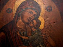 Madonna And Child Painting Stock Image