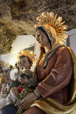 Madonna and child. Religious icon of madonna and child Stock Photo
