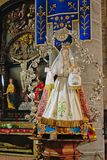 Madonna with child sculpture in church of Damme, Belgium royalty free stock photo