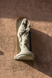 Madonna and Child,  sculpture on a wall in Wurzburg, Germany. Royalty Free Stock Photo