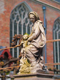 Madonna and child statue, Bruges Stock Photo