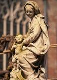 Madonna and child statue, Bruges, Belgium Stock Images