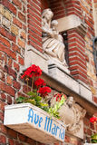 Madonna and child statue, Bruges, Belgium Royalty Free Stock Photography
