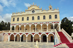 The Madonna church at Tinos island. Church of Panagia Evangelistria at Tinos island in Greece Royalty Free Stock Image