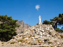 Madonna on Col of Bavella. Corse - Corsica, France: Madonna on Col of Bavella Royalty Free Stock Photos