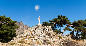 Madonna on Col of Bavella. Corse - Corsica, France: Madonna on Col of Bavella Royalty Free Stock Images