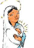 Madonna con il bambino. illustrazione di stock