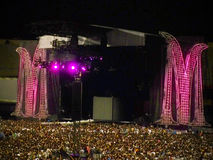 Madonna Concert. Morumbi stadium filling up for the Madonna show in São Paulo, Brazil Royalty Free Stock Images