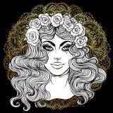 Madonna, dama stroskanie Oddanie Niepokalany serce Ble ilustracja wektor