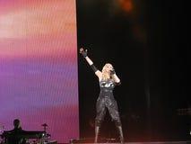 Madonna dans le concert sous tension Images stock