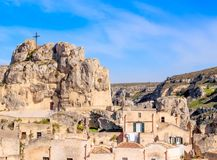 The Madonna de Idris Church of Matera. Basilicata ITALY Stock Photography