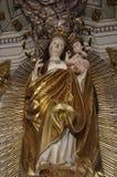 Madonna de la iglesia de Sumuleu Imágenes de archivo libres de regalías