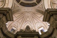 Madonna del Carmine church in Sorrento campania, Italy. Interiors and details of Madonna del Carmine church in Sorrento, near Naples, camapnia, Italy Stock Photos