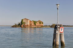 Madonna del Monte island in Venice lagoon, Italy. Royalty Free Stock Images