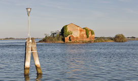 Madonna del Monte island in Venice lagoon, Italy. Royalty Free Stock Photography