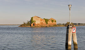 Madonna del Monte island in Venice lagoon at sunset, Italy. Royalty Free Stock Photos