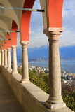 Madonna del Sasso balcony Royalty Free Stock Photography
