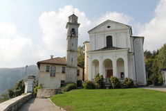 Madonna del Sasso Italien Arkivbild