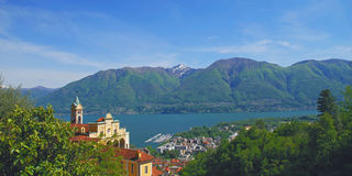 Madonna del Sasso,Locarno,Lake Maggiore Stock Images