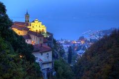 Madonna del Sasso Santuário, Locarno, Switzerland Imagem de Stock