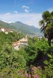 Madonna del Sasso, Ticino, Lago Maggiore, Suisse Photographie stock libre de droits