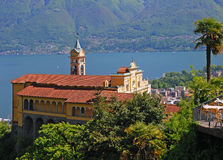 Madonna del Sasso,Ticino,Lago Maggiore,Switzerland Royalty Free Stock Photos