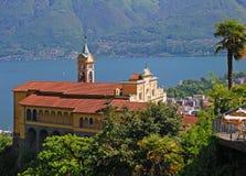 Madonna Del Sasso, Ticino, Lago Maggiore, Szwajcaria Zdjęcia Royalty Free