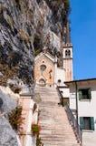 Madonna della Corona Sanctuary - Verona Italy Arkivbilder