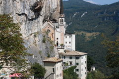 Madonna della Corona Sanctuary Royalty Free Stock Photography
