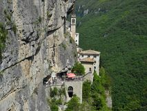 Madonna della Corona Sanctuary Stock Photography