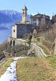Madonna della Sassella sanctuary, Sondrio, Valtellina Stock Photos