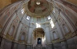 Baroque abandoned Church in Vercelli, Italy. Madonna delle vigne XVII abandoned rural church, Vercelli, Italy royalty free stock photos