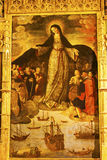 Madonna des Seeleute Alcazar Royal Palace Sevilla Spanien Stockbild