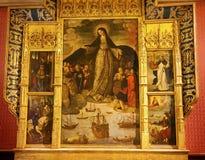 Madonna des Seeleute Alcazar Royal Palace Sevilla Spanien Stockfotos