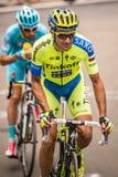 Madonna di Campiglio, Italië 24 maggio 2015; Ivan Basso tijdens Giro D'Italia Royalty-vrije Stock Foto's