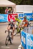 Madonna di Campiglio, Italië 24 maggio 2015; Professionele fietser tijdens Giro D'Italia Stock Fotografie