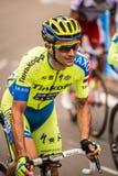 Madonna di Campiglio, Italië 24 maggio 2015; Professionele fietser tijdens Giro D'Italia Royalty-vrije Stock Afbeelding