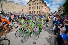 Madonna di Campiglio, Italië 24 maggio 2015; Professionele fietsers tijdens Giro D'Italia Royalty-vrije Stock Afbeelding