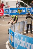 Madonna di Campiglio, Italië 24 maggio 2015; Ryder Hesjedal tijdens een stadium van Giro D'Italia Royalty-vrije Stock Foto's