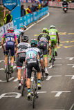 Madonna di Campiglio, Italia 24 maggio 2015; Group of professional cyclists with Davide Formolo Royalty Free Stock Photography