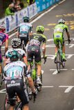 Madonna di Campiglio, Italia 24 maggio 2015; Group of professional cyclists with Davide Formolo Stock Photography