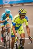 Madonna di Campiglio Italia 24 maggio 2015; Ivan Basso under en etapp av Postgirot D'Italia Royaltyfri Bild
