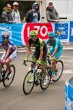 Madonna di Campiglio, Italia 24 maggio 2015; Professional cyclist during Giro D'Italia Royalty Free Stock Photo