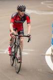 Madonna di Campiglio Italia 24 maggio 2015; Yrkesmässig cyklist under Postgirot D'Italia Royaltyfri Bild