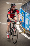 Madonna di Campiglio Italia 24 maggio 2015; Yrkesmässig cyklist under Postgirot D'Italia Arkivfoton