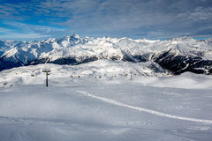 Madonna di Campiglio Ski Resort in Italian Alps Royalty Free Stock Photo