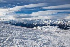 Madonna di Campiglio. Ski Slope near Madonna di Campiglio Ski Resort, Italian Alps Royalty Free Stock Photography
