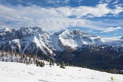 Madonna di Campiglio. Ski Slope near Madonna di Campiglio Ski Resort, Italian Alps Stock Photos